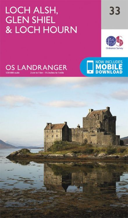 OS Landranger 33 - Loch Alsh, Glen Shiel and Loch Hourn